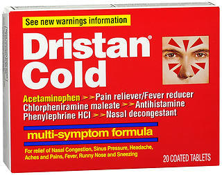 Dristan Multi-Symptom Formula, Original Formula, Coated Tablets  - 20ea