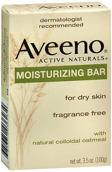 Aveeno Active Naturals Moisturizing Bar with Natural Colloidal Oatmeal for Dry Skin, Fragrance Free  - 3.5oz
