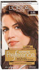 L'Oreal Preference - 6 Light Brown - 1 Each