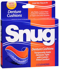 Snug Denture Cushions, Large Size  - 2ea