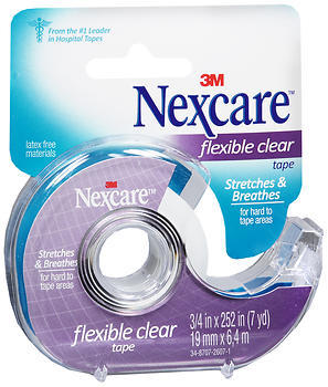 3M Nexcare Flexible Clear Tape - 3/4in x 7yd