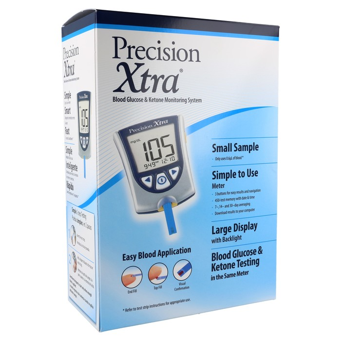 Precision Xtra™ Blood Glucose & Ketone Monitoring System - Meter for Diabetes Care