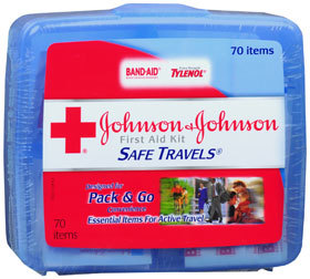 Johnson & Johnson First Aid Kit Safe Travels