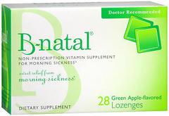 B-Natal Non-Prescription Vitamin Supplement for Morning Sickness, Green Apple - 28 LOuncesenges