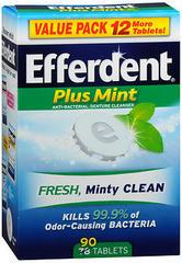 Efferdent Plus Denture Cleanser, Minty Fresh - 78 Tablets