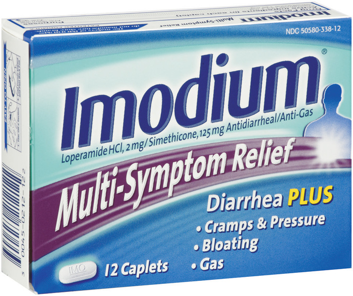 Imodium Multi-Symptom Relief Antidiarrheal/Anti-Gas Caplets - 12 Each
