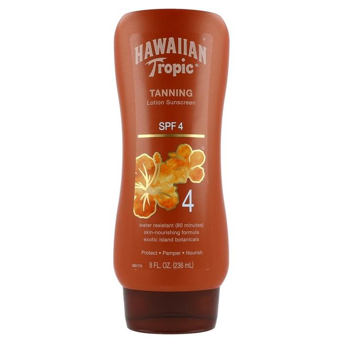 Hawaiian Tropic Sunscreen Tanning Lotion SPF 4 - 8 Ounces