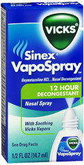 Vicks Sinex 12 Hour Decongestant Nasal Spray - 0.5 Ounces