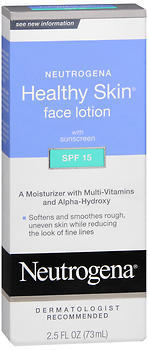Neutrogena Healthy Skin Face Lotion SPF 15 - 2.5 Ounces