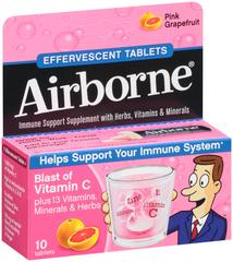 Airborne Effervescent Tablets Pink Grapefruit - 10 TAB