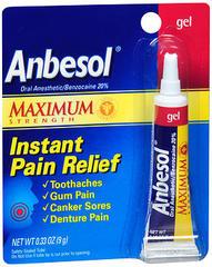 Anbesol Maximum Strength Instant Pain Relief Gel - 0.33 Ounces