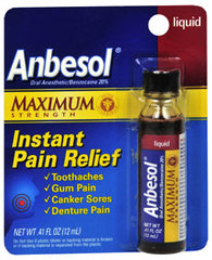 Anbesol Maximum Strength Instant Pain Relief Liquid - 0.41 Ounces