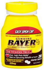 Bayer Aspirin 325 Milligrams - 200 Coated Tablets