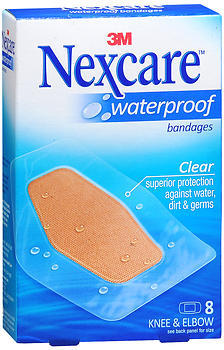 Nexcare Waterproof Bandages Knee & Elbow - 8 Bandages