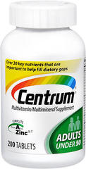 Centrum Complete From A to Zinc Multivitamin - 200 Tablets