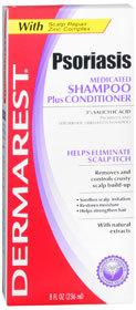Dermarest Psoriasis Medicated Shampoo Plus Conditioner - 8 Ounces