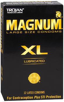 Trojan Magnum - 12 Lubricated Latex Condoms