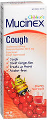 Children's Mucinex Cough Liquid, Cherry Flavor - 4 Ounces