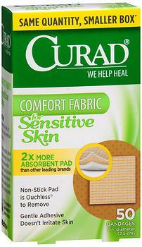 Curad Sensitive Skin Sterile Adhesive Spot Bandages - 50 Each