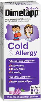 Children's Dimetapp Cold and Allergy, Grape Flavor - 8 Ounces