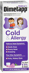 Children's Dimetapp Cold and Allergy, Grape Flavor - 8 Ounces
