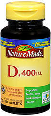 Nature Made Vitamin D 400 I.U. - 100 Tablets