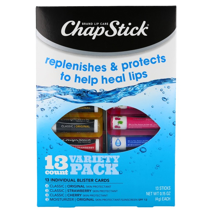 Chapstick Variety Pack - 13 Sticks
