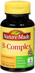 Nature Made B Complex With Vitamin C Caplets - 100 Caplets