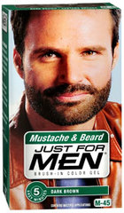 Just For Men Mustache and Beard, Dark Brown - 1 Each