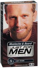 Just For Men Mustache & Beard Brush in Color Gel, Light Brown - 1 Each