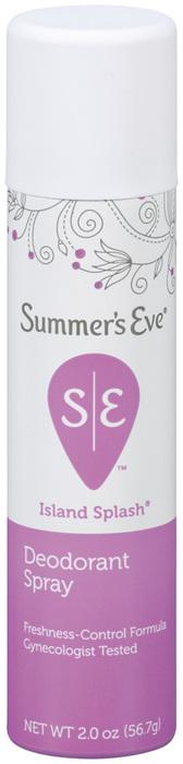 Summer's Eve Feminine Deodorant Spray, Island Splash Summers - 2 Ounces