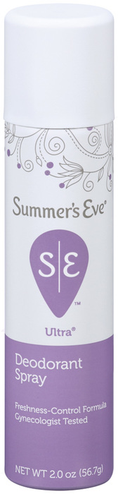 Summer's Eve Ultra Deodorant Spray - 2 Ounces