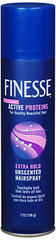 Finesse Aerosol Hairspray Extra Hold, Unscented - 7 Ounces
