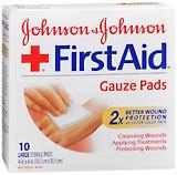 Johnson & Johnson Band-Aid Sterile Gauze Pads - 10 Large Pads
