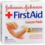 Johnson & Johnson Band-Aid Sterile Gauze Pads - 10 Large Pads