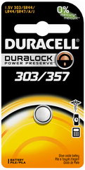 Duracell 1.5 Volt Silver Oxide Battery 303/357 - 1 EA