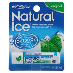 Mentholatum Natural Ice Medicated Lip Balm SPF 15 - 12 X 0.16 oz Pack
