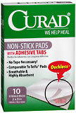 Curad Non-Stick Pads with Adhesive Tabs  - 10ea