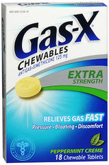Gas-X Anti-Gas, Extra Strength, Chewable Tablets, Peppermint Creme  - 18ea