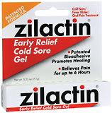 Zilactin Cold Sore Gel - 0.25 Ounces