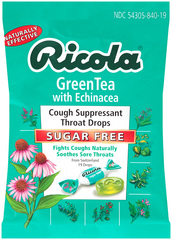 Ricola Throat Lozenges Echinacea Green Tea Sugar Free - 19 Each