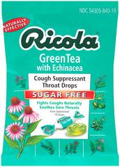 Ricola Throat Lozenges Echinacea Green Tea Sugar Free - 19 Each
