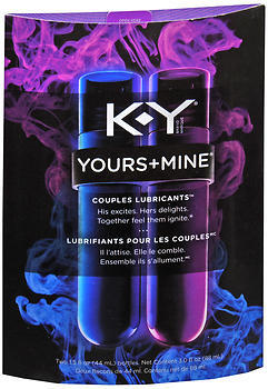 K-Y Yours+Mine Couples Lubricants - 3 OZ