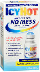 ICY HOT Medicated No Mess Applicator Pain Relieving Liquid - 2.5 OZ