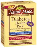 Nature Made Diabetes Health Pack - 30 Packets