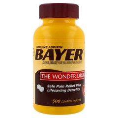Bayer Genuine Aspirin 325mg - 500 Tablets