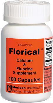 Florical Calcium & Fluoride Supplement - 100 Capsules