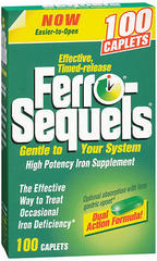 Ferro-Sequels High Potency Iron Supplement, Tablets  - 100ea