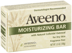 Aveeno Moisturizing Bar with Natural Colloidal Oatmeal for Dry Skin, Fragrance Free  - 3.5oz