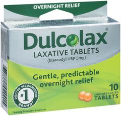 Dulcolax Laxative, 5 mg, Comfort Coated Tablets  - 10ea